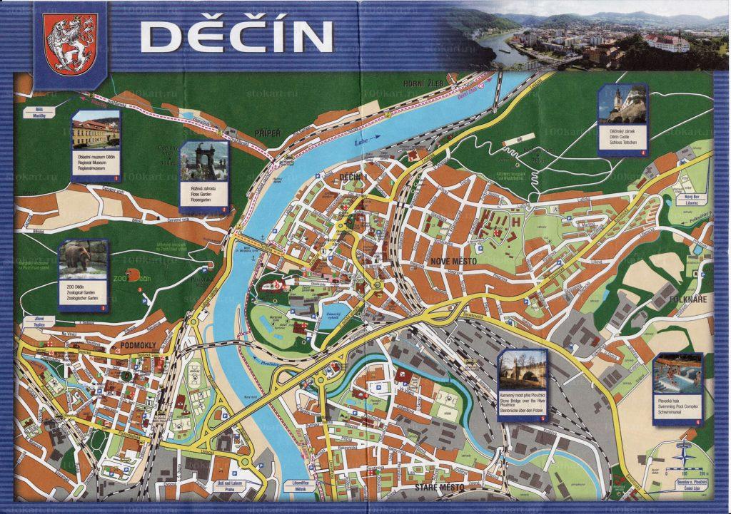 Дечин Карта